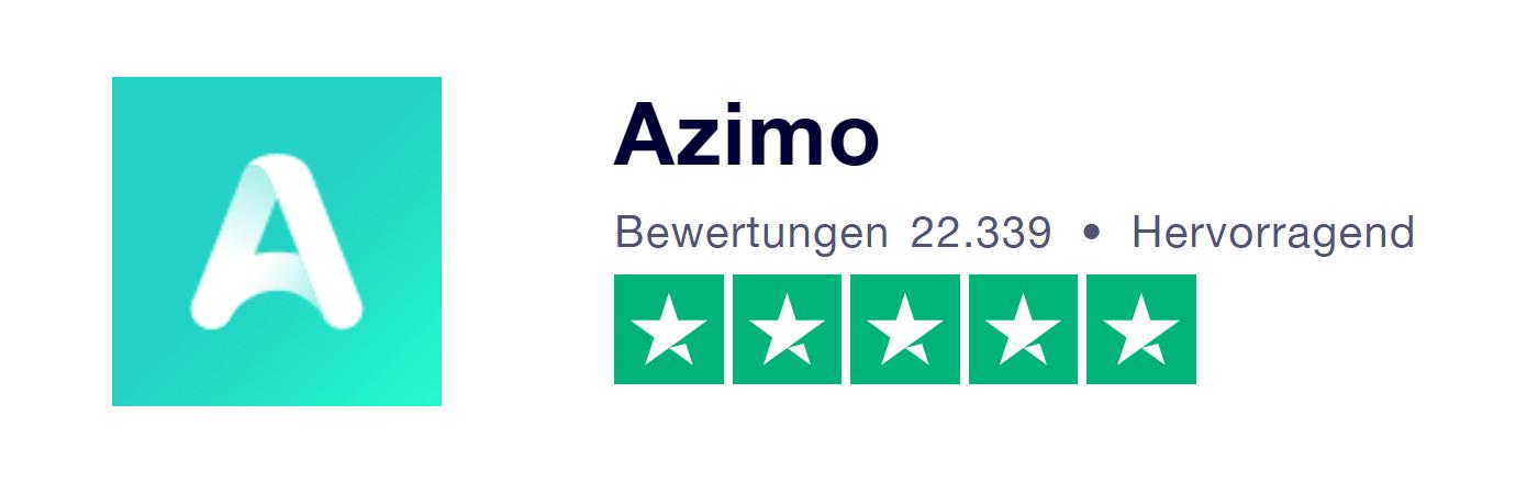 Azimo Erfahrungen bei Trustpilot